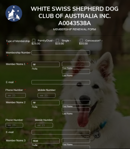 White Swiss Shepherd Membership